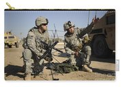U.s. Army Soldiers Setting Carry-all Pouch by Stocktrek Images