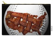 Us Bacon Weave Map Baseball Square Carry-all Pouch by Andee Design