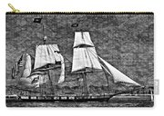Us Brig Niagra Texture Overlay Bw Carry-all Pouch