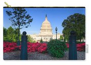 Us Capitol And Red Azaleas Carry-all Pouch