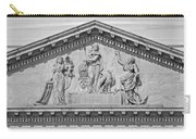 Us Capitol Building Facade- Black And White Carry-all Pouch