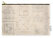 U.s. Coast Guard Drawing Of A Screw Pile Lighthouse Carry-all Pouch