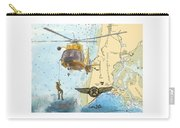 Us Coast Guard Rescue Swimmer Nautical Chart Art Cathy Peek Carry-all Pouch
