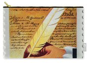 Us Constitution Stamp Carry-all Pouch
