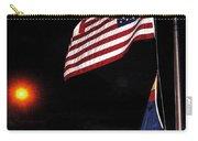 Us Flag Arizona Flag Twilight Casa Grande Arizona 2005 Carry-all Pouch