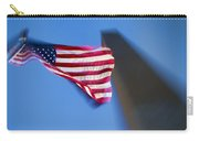 Us Flag At Washington Monument At Dusk Carry-all Pouch