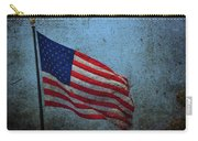 Us Flag -blue Antiqued Carry-all Pouch
