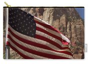 U.s. Flag In Zion National Park Carry-all Pouch