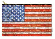Us Flag With States Carry-all Pouch