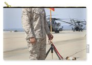 U.s. Marine And The Official Mascot Carry-all Pouch