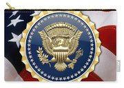 Presidential Service Badge - P S B Over American Flag Carry-all Pouch
