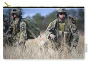 U.s. Soldiers Await The Arrival Carry-all Pouch