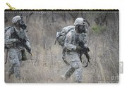 U.s. Soldiers Don Chemical Warfare Gear Carry-all Pouch