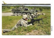U.s. Soldiers Move Into Firing Carry-all Pouch