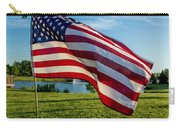 Usa Flag Carry-all Pouch by Phyllis Bradd