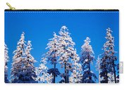 Usa, Oregon, Pine Trees, Winter Carry-all Pouch