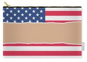 Usa Wrapping Paper Torn Through The Centre Carry-all Pouch