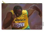 Usain Bolt 2012 Olympics Carry-all Pouch by Vannetta Ferguson