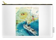 Uscg Chase Helicopter Chart Map Art Peek Carry-all Pouch