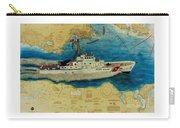 Uscg Cuttyhunk Nautical Chart Art Peek Carry-all Pouch