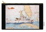 Uscg Sapelo Helicopter Fl Nautical Chart Map Art Peek Carry-all Pouch