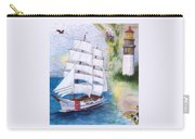 Uscg Tall Ship Eagle Chart Art Peek Carry-all Pouch