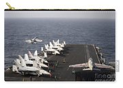 Uss Enterprise Conducts Flight Carry-all Pouch by Stocktrek Images