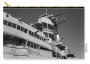Uss Iowa Battleship Portside Bridge 01 Bw Carry-all Pouch