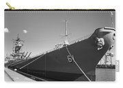 Uss Iowa Battleship Starboard Side Bw Carry-all Pouch