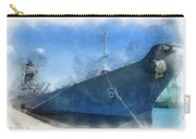 Uss Iowa Battleship Starboard Side Photo Art 01 Carry-all Pouch