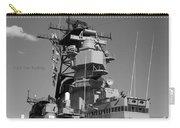 Uss Iowa Battleship Starboardside Bridge 02 Bw Carry-all Pouch