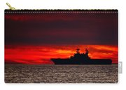 Uss Makin Island At Sunset Carry-all Pouch