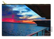 Uss Midway Sunset Carry-all Pouch