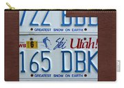 Utah State License Plate Map Carry-all Pouch by Design Turnpike