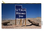 Utah Welcomes You State Sign Carry-all Pouch