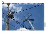 Utility Poles And Clouds 2 Carry-all Pouch