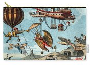 Utopian Flying Machines 19th Century Carry-all Pouch