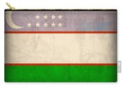Uzbekistan Flag Vintage Distressed Finish Carry-all Pouch
