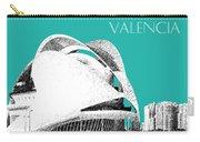Valencia Skyline City Of Arts And Sciences - Aqua Carry-all Pouch