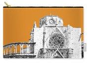Valencia Skyline Valencia Cathedral - Dark Orange Carry-all Pouch