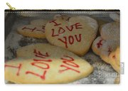Valentine Wishes And Cookies Carry-all Pouch