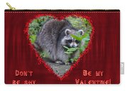 Valentine's Day Greeting Card - Raccoon Carry-all Pouch
