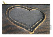Valentine's Day - Sand Heart Carry-all Pouch