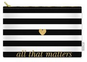 Valentine's Stripe II Carry-all Pouch by South Social Studio
