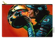 Valentino Rossi Portrait Carry-all Pouch by Paul Meijering