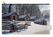 Valley Forge Cabins After A Snow Carry-all Pouch