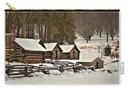 Valley Forge Cabins In Snow 2 Carry-all Pouch
