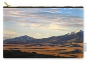 Valley Shadows Snowy Peaks Carry-all Pouch