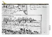 Van Gogh Letter, 1888 Carry-all Pouch