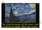 Van Gogh Motivational Quotes - Starry Night II Carry-all Pouch